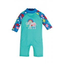 """frugi - Baby Schwimmanzug """"Little Sun"""" mit Elefanten-Motiv, UPF 40+"""