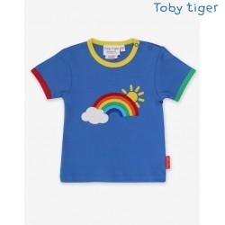 Toby tiger - Bio Kinder T-Shirt mit Regenbogen-Applikation