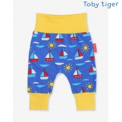 Toby tiger - Bio Baby Jerseyhose mit Boote-Allover