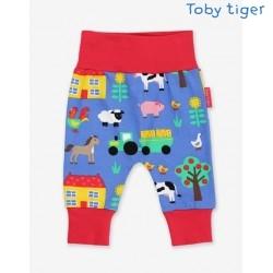 Toby tiger - Bio Baby Jerseyhose mit Farm-Allover