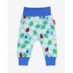 Toby tiger - Bio Baby Jerseyhose mit Gänseblümchen-Allover