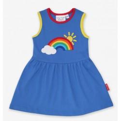 Toby tiger - Bio Kinder Jersey Kleid mit Regenbogen-Applikation