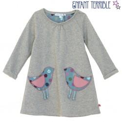 Enfant Terrible - Sweatkleid mit Vogeltaschen