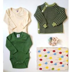 """Baby Geschenkbox zur Geburt """"Grünes Zwerglein"""""""