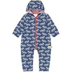 loud + proud - Bio Baby Overall mit Leoparden-Druck, wasserabweisend