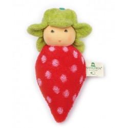 Nanchen Natur - Bio Baby Rassel Erdbeere 15cm