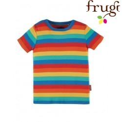 frugi - Bio Kinder T-Shirt Regenbogen, orange