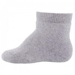 Ewers - Bio Kinder Socken uni, grau