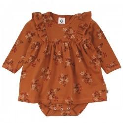Müsli by Green Cotton - Bio Baby Kleid mit Body mit Blümchen-Allover