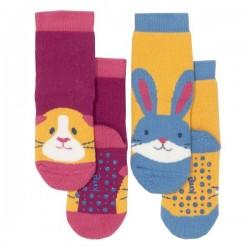 """kite kids - Bio Baby Stopper Socken mit Tier-Motiven """"Meerschein und Hase"""" 2er Pack"""