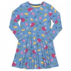 kite kids - Bio Kinder Kleid mit Waldtiere-Allover