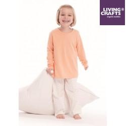 LIVING CRAFTS - Bio Kinder Schlafanzug langarm mit Punkten