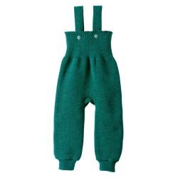 disana - Bio Baby Strick Trägerhose, Wolle, pazifik