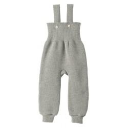 disana - Bio Baby Strick Trägerhose, Wolle, grau