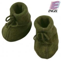 ENGEL - Bio Baby Fleece Schuhe, Wolle, schilf