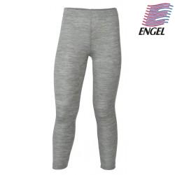 ENGEL - Bio Kinder Leggings, Wolle/Seide, hellgrau