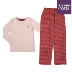 LIVING CRAFTS - Bio Kinder Schlafanzug langarm mit Karo