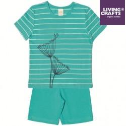 LIVING CRAFTS - Bio Kinder Schlafanzug mit Pusteblumen-Motiv