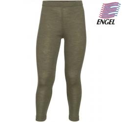 ENGEL - Bio Kinder Leggings, Wolle/Seide, olive