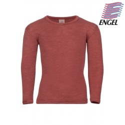ENGEL - Bio Kinder Unterhemd langarm, Wolle/Seide, kupfer