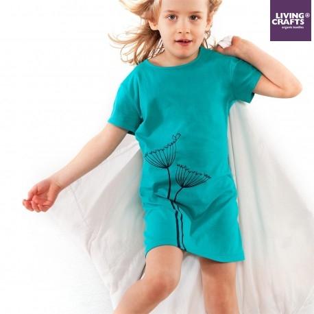 LIVING CRAFTS - Bio Kinder Nachthemd mit Pusteblumen-Motiv