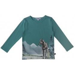 Enfant Terrible - Bio Kinder Langarmshirt mit Pferde-Druck