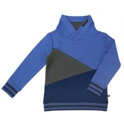 Enfant Terrible - Bio Kinder Sweatshirt mit Colourblocking, blau