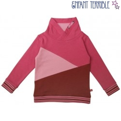 Enfant Terrible - Bio Kinder Sweatshirt mit Colourblocking, rosa