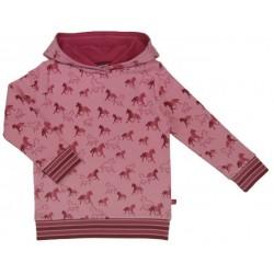Enfant Terrible - Bio Kinder Sweatshirt mit Pferde-Allover und Kapuze