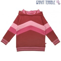 Enfant Terrible - Bio Kinder Sweatshirt mit Colourblocking und Kapuze, rosa