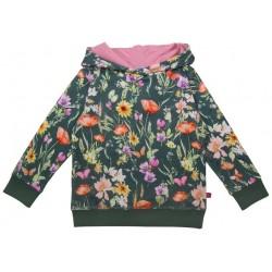 Enfant Terrible - Bio Kinder Sweatshirt mit Blumen-Allover und Kapuze