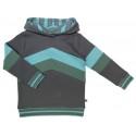 Enfant Terrible - Bio Kinder Sweatshirt mit Colourblocking und Kapuze, grün