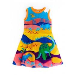 merle kids - Bio Kinder Kleid mit Vorzeiten-Motiv