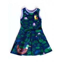 merle kids - Bio Kinder Kleid mit Ententeich-Motiv