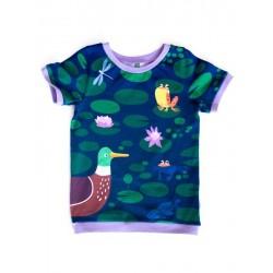 merle kids - Bio Kinder T-Shirt mit Ententeich-Motiv