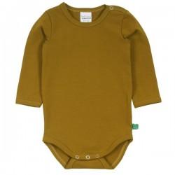Fred`s World by Green Cotton - Bio Baby Body langarm, pesto