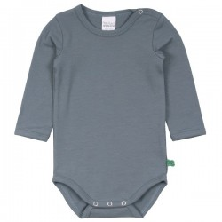 Fred`s World by Green Cotton - Bio Baby Body langarm, hellblau