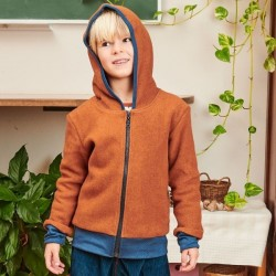 Cheeky Apple - Bio Kinder Fleece Jacke, braun