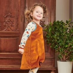Cheeky Apple - Bio Kinder Nicki Kleid, caramel