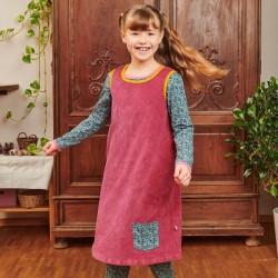 Cheeky Apple - Bio Kinder Nicki Kleid, holunder