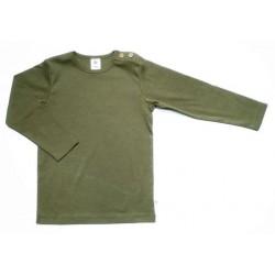 Leela Cotton - Bio Kinder Langarmshirt, olive
