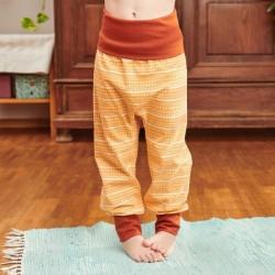 Cheeky Apple - Bio Kinder Jerseyhose mit Muster, gelb