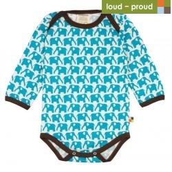 loud & proud - Body mit Elefanten-Druck