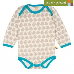 loud + proud - Bio Baby Body langarm mit Vogel-Druck
