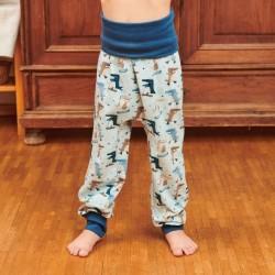 Cheeky Apple - Bio Kinder Jerseyhose mit Krokodil-Allover