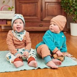 Cheeky Apple - Bio Baby Jerseyhose mit Babyelefanten-Allover