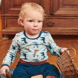 Cheeky Apple - Bio Baby Langarmshirt mit Krokodil-Allover