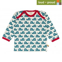 loud & proud - Langarmshirt mit Schnecken-Druck