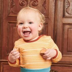 Cheeky Apple - Bio Baby Langarmshirt mit Muster
