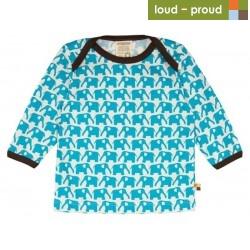 loud & proud - Langarmshirt mit Elefanten-Druck
